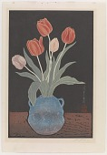 view Tulips in a double-earred vase digital asset number 1