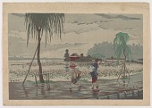 view Along Shinobazu Pond in the Rain digital asset number 1