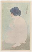 view Early Summer Bath, from the series Twelve Figures of Modern Beauties digital asset number 1