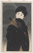 view Snowy Night, from the series Twelve Figures of Modern Beauties digital asset number 1