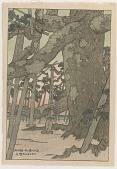 view Pine Tree at Karasaki, from the series Eight Views of Omi digital asset number 1