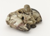 view Ornament: boy with reclining elephant digital asset number 1