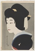 view Sawamura Sonosuke in the Role of Umegawa, from the series Flowers of the Theatrical World digital asset number 1