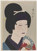 view Nakamura Utaemon V in the Role of Owase, from the series Flowers of the Theatrical World digital asset number 1