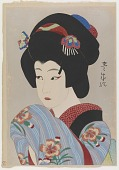 view Ichikawa Shocho II in the Role of Oman, from the series Flowers of the Theatrical World digital asset number 1