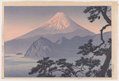 view Mount Fuji at sunset, a view from Shizu-ura digital asset number 1