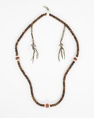 view Prayer beads (mala), from an assembled set of items used in Severance (Chöd) Practice digital asset number 1