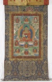 view Bhaishajya Guru, from a four-part set of thangkas digital asset number 1