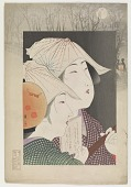 view Three-string shamisen players, from the series Customs of Women Today digital asset number 1