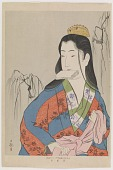 view Courtesan tying her sash, from the series Patterns of Four Seasons digital asset number 1