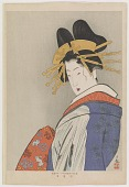 view Courtesan in procession, from the series Patterns of Four Seasons digital asset number 1