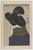 view February, Winter Sky, from the series Assorted New Ukiyo-e Style Beauties digital asset number 1