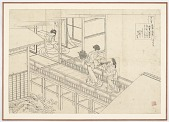 view Preparatory drawing for Taikenmon'in no Horikawa from the series One Hundred Poems Explained by the Nurse (Hyakunin isshu uba ga etoki) digital asset number 1