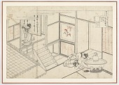 view Preparatory drawing for Shokushi Nai Shinno from the series One Hundred Poems Explained by the Nurse (Hyakunin isshu uba ga etoki) digital asset number 1