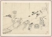 view Preparatory drawing for Nijoin no Sanuki from the series One Hundred Poems Explained by the Nurse (Hyakunin isshu uba ga etoki) digital asset number 1