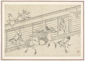 view Preparatory drawing for Toba no In from the series One Hundred Poems Explained by the Nurse (Hyakunin isshu uba ga etoki) digital asset number 1
