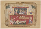 view <em>The Sleeping Shatrajit Murdered by Satadhanva, from a <em>Bhagavata Purana<em></em> digital asset number 1