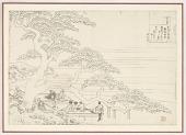 view Preparatory drawing for a print in the series <i>Hyakunin isshu uba ge etoki</i>: Fujiwara no Okikaze digital asset number 1