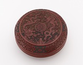 view Round box with dragon and flower digital asset number 1