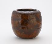 view Tea ceremony water jar in style of Raku Ichinyu, unknown Raku-ware workshop digital asset number 1