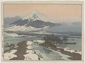 view Lake Kawaguchi, from the series Ten Views of Fuji digital asset number 1