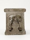view Pedestal with Buddha, bodhisattvas, and monks digital asset number 1