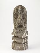 view Seated bodhisattva with garuda, naga, apasaras, and lions digital asset number 1