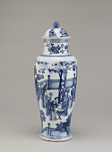 view Baluster vase, one of three in a five-piece garniture (F1980.190--194) digital asset number 1