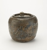 view Tea ceremony water jar with design of pine and plum trees digital asset number 1