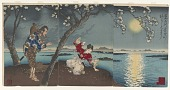 view Famous places in the East: the tale of Umewaka and the child seller beside the Sumida river digital asset number 1