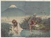 view Mount Fuji at sunset on Lake Suruga digital asset number 1