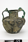 view Amphora with handles originating from silenus masks at shoulder and terminating in lion's heads at rim digital asset number 1
