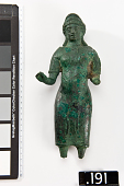 view Figure of a woman, fragment, with partial inscription digital asset number 1