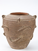 view Storage jar with four lugs and applique fishes digital asset number 1