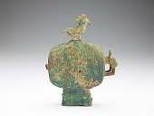 view Ritual vessel (<i>huo</i>) with bird stopper digital asset number 1