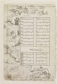 view Folio from a <i>Divan</i> (collected poems) by Sultan Ahmad Jalayir (d.1410); recto: Pastoral scene; verso: text digital asset number 1