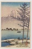 view Mount Fuji seen from Lake Hakone digital asset number 1