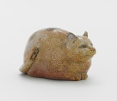 view Figure of a cat, probably Kyoto ware digital asset number 1