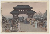view Market in Mukden, from the series Korea and Manchuria digital asset number 1