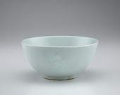view Bowl with floral spray decoration in relief digital asset number 1