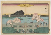 view Entrance gate to Mimoguri Shrine, from the the series, Famous Places of the Eastern Capital digital asset number 1