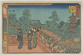 view Asakusa Kinryuzan, from the series, Famous places of Edo digital asset number 1
