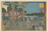 view Yushima tenmangu, from the series, Edo meisho digital asset number 1