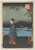view Toeizan Sanyabori yakei, from the series, One Hundred Famous Views of Edo digital asset number 1