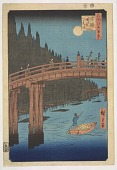 view Kyobashi Takegashi, from the series, One Hundred Famous Views of Edo digital asset number 1
