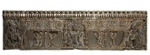 view Frontal from the base of a funerary couch with Sogdian musicians and dancers and Buddhist divinities digital asset number 1