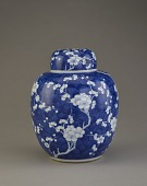 "view ""Ginger jar"" with cover, one of a pair with F1995.3.2 a-b digital asset number 1"