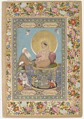 view <em>Jahangir Preferring a Sufi Shaikh to Kings </em>from the <em>St. Petersburg Album</em> digital asset number 1