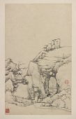 view Album of the Feng River Landscape Scenes: Stone Grotto and Thatched Hut digital asset number 1