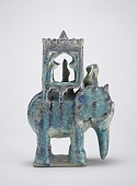 view Elephant with howdah and figure digital asset number 1